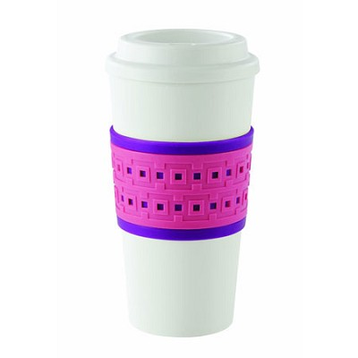 Acadia Reusable To Go Mug, Geo Design 2510-0186