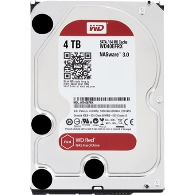 4TB Red 5400 rpm SATA III 3.5` Internal NAS HDD (WD40EFRX)