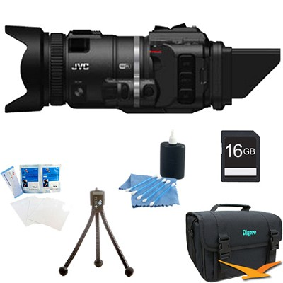 GC-PX100BUS - HD Everio Camcorder (Black) with 16GB Bundle