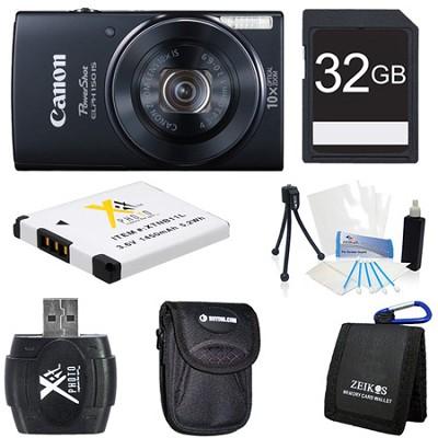 PowerShot ELPH 150 IS 20MP 10x Opt Zoom Digital Camera Black Kit