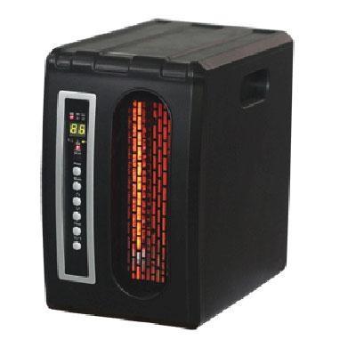 Comfort Glow Compact Infrared Heater in Black - QDE1320