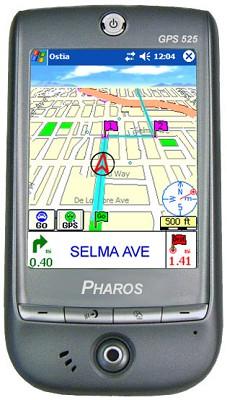 Traveler GPS 525 handheld GPS rec. w/ WiFi, Bluetooth & Windows Mob 5.0 OPEN BOX