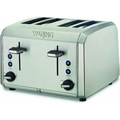 WT400 Professional 4 Slice Toaster, Brushed Stainless Steel