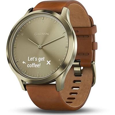 Vivomove HR, Premium, Gold Tone w/ Leather Band (Small/Medium)
