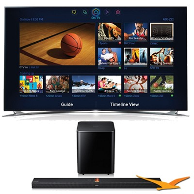 UN60F8000 60 inch 1080p 240hz 3D Smart Wifi TV + HW-F750 Soundbar Bundle