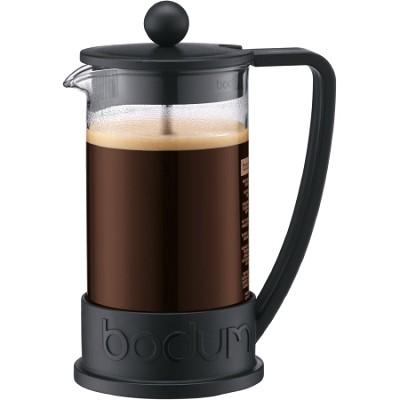 Brazil 3 Cup French Press Coffee Maker 12 oz Glass Carafe  (Black) - OPEN BOX