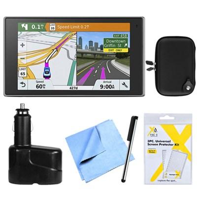 DriveLuxe 51 NA LMT-S GPS Navigator w/ Smart Features Bundle