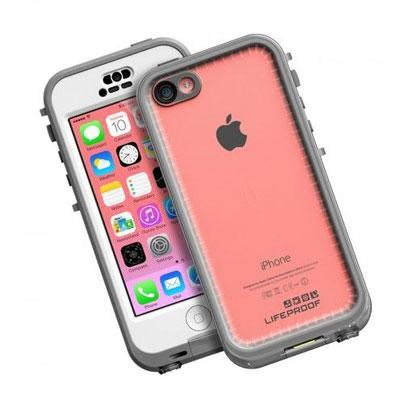 LifeProof NUUD iPhone 5c Waterproof Case in White and Clear - 2002-02