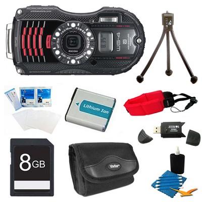 WG-4 GPS 16MP HD 1080p Waterproof Digital Camera Black 8GB Kit