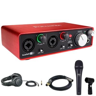 Scarlett 2i2 USB Audio Interface (2nd Generation) Microphone Bundle