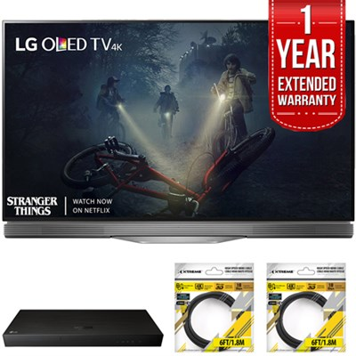 55` E7 OLED 4K HDR Smart TV 2017 Model with Warranty + Blu Ray Bundle