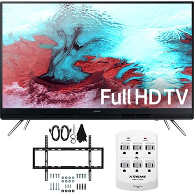 UN40K5100A - 40` Full HD 1080p LED HD TV w/ Slim Flat Wall Mount Bundle