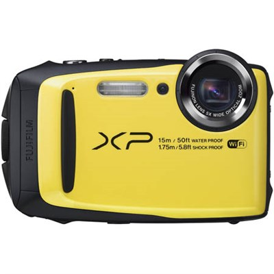FinePix XP90 16 MP Waterproof Digital Camera with 3-inch LCD - Yellow