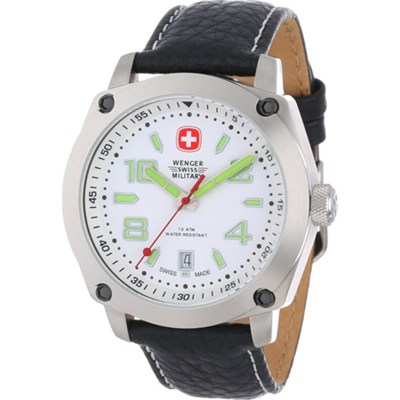 Men's Outback Military Sport Watch - White/Black - OPEN BOX