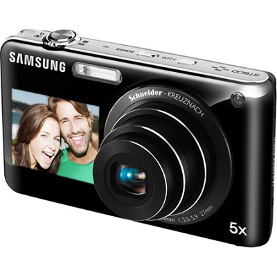 DualView ST600 14MP 3.5 inch Touchscreen Black Camera w/ HD Video and 5x Zoom