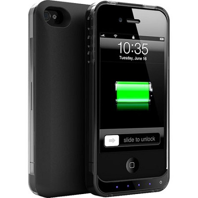 DX-Lite Protective Battery Case for iPhone 4 & iPhone 4S (Black Crystal Black)