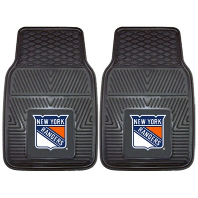 NHL New York Rangers Vinyl Heavy Duty Car Mat - Set of Two