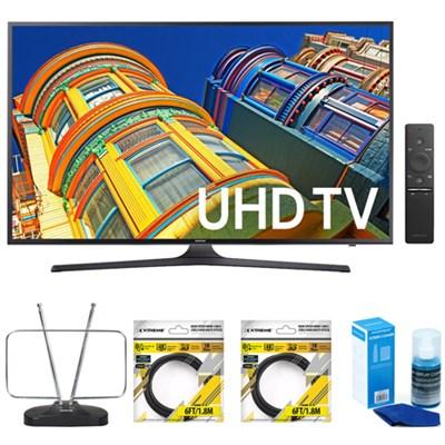 70 Inch 4K Ultra HD Smart LED TV UN70KU6300FXZA w/ Accessories Bundle