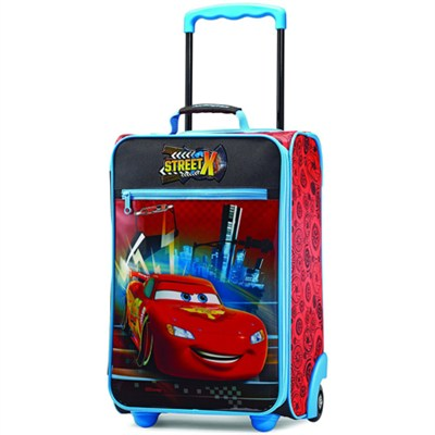 18` Upright Kids Disney Themed Softside Suitcase (Cars)
