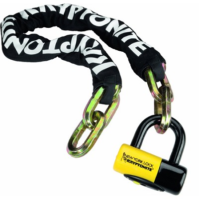 New York Fahgettaboudit Chain & Disk Lock 1410 (3t hardened manganese steel)