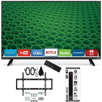D50-D1 - D-Series 50-Inch Full Array LED Smart TV Slim Flat Wall Mount Bundle