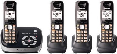 KX-TG6534B DECT 6.0 Plus Expandable Digital Cordless Answering System