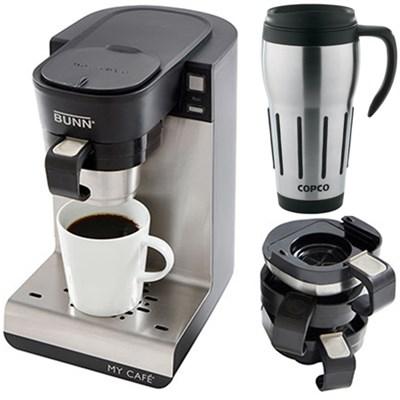 My Cafe Multi-Use Single Cup Coffee Brewer w/ 24oz. Big Joe Thermal Mug