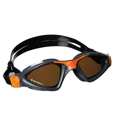 Aqua Sphere Kayenne Swim with Polarized Lens and Gray/Orange Frame - 172730
