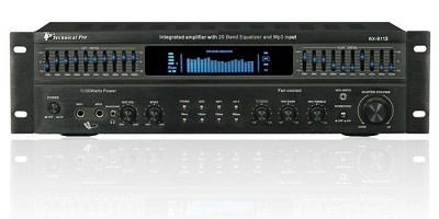 RX-113 Integrated Amp with built in Equalizer in Black
