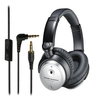 ATH-ANC7B Noise Canceling Headphones Silver - Refurbished