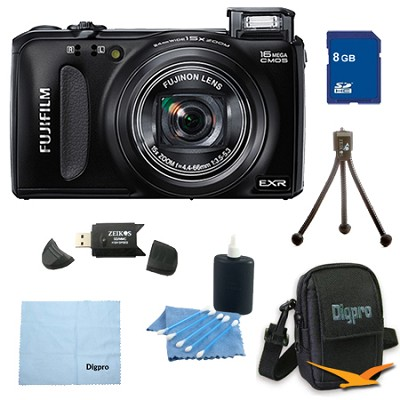 FinePix F660EXR 16MP EXR CMOS Digital Camera 8 GB Bundle (Black)