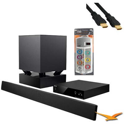 HTCT550W - 40-inch Sound Bar System with Wireless Subwoofer with HookUp Bundle