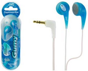 HAF-120A Ultra Soft Earbuds (Peppermint Blue) fun see-through color