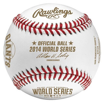 2014 World Series Champs Baseball in Display Cube - WSBB14CHMP-R