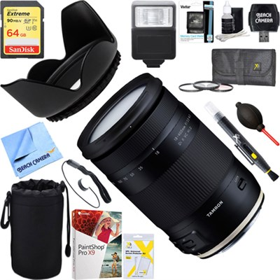 18-400mm f/3.5-6.3 Di II VC HLD Lens for Canon Mount + 64GB Ultimate Kit