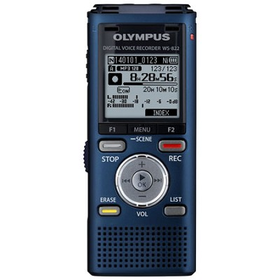 WS-822 Digital Voice Recorder, 4GB Blue