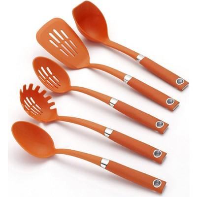 Orange 5-Piece Soft-Grip Tool Set