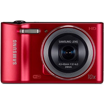 WB30F 16.2 MP 10x optical zoom Digital Camera - Red - OPEN BOX
