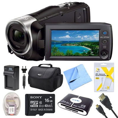 HDR-PJ440 Full HD 60p Camcorder w/ Built-In Projector Bundle