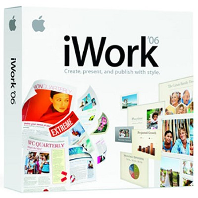 iWork 2006 'Organize-Create-Present and Publish With Style'