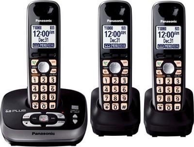 KX-TG4033B DECT 6.0 PLUS Expandable Digital Cordless Answering 3 Handset System