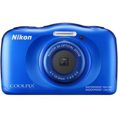 COOLPIX S33 13.2MP Waterproof Digital Camera - Blue (Refurbished)
