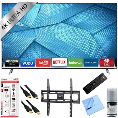 M49-C1 - 49-Inch 4K Ultra HD Smart LED HDTV Mount & Hook-Up Bundle