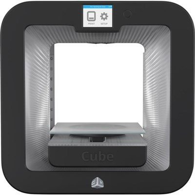 Cube 3D Printer Base - Grey - OPEN BOX NO INK