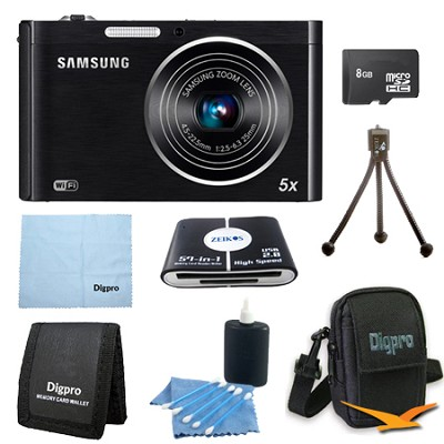 DV150F 16.1 MP 5X Wi-Fi Digital Camera - Black 8GB Deluxe Bundle