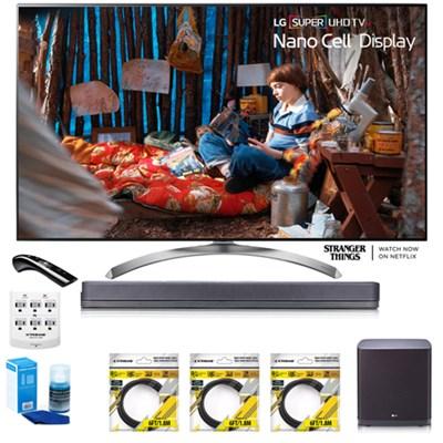 SUPER UHD 55` 4K HDR Smart LED TV 55SJ8500 w/LG SJ9 Hi-Res Sound Bar Bundle