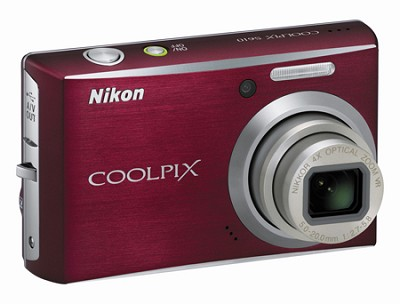 Coolpix S610 Digital Camera (Deep Red)