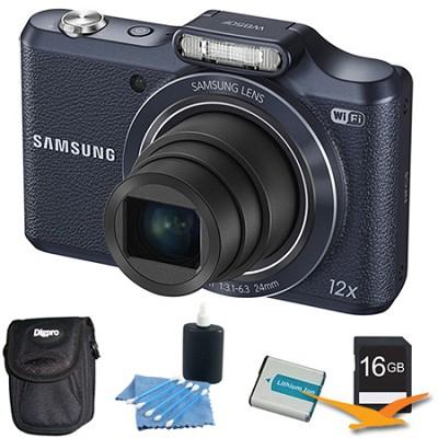 WB50F 16.2MP 12x Opt Zoom Smart Digital Camera Black 16GB Kit