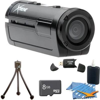 Xtreme Sports Full HD 1080p Waterproof Helmet Video Camera (Black) Ultimate Kit