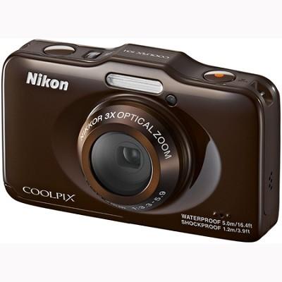 COOLPIX S31 10.1MP 720p HD Video Waterproof Digital Camera - Brown Refurbished